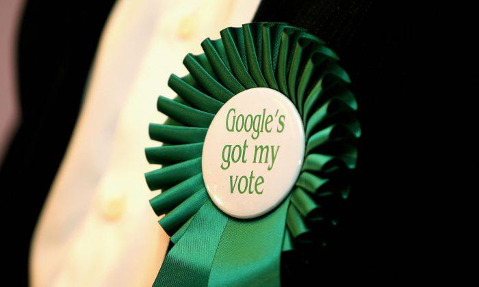 A Google badge in Sydney on Sept. 14, 2007. (Greg Wood/AFP/Getty Images)