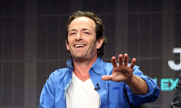 Executive producer/actor Luke Perry speaks onstage during the 'Welcome Home' panel discussion at the UP Entertainment portion of the 2015 Summer TCA Tour at The Beverly Hilton Hotel in Beverly Hills, Calif. on July 30, 2015 . (Photo by Frederick M. Brown/Getty Images)