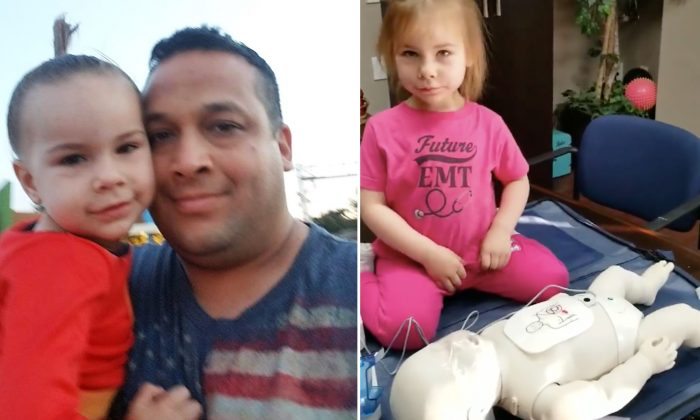2-Year-Old Learns CPR From EMT Dad, Performs the Life-Saving Skill on a Dummy Like a Pro