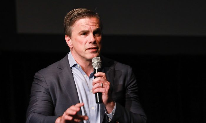 President of Judicial Watch Tom Fitton speaks at the High School Leadership Summit, a Turning Point USA event, at George Washington University in Washington on July 26, 2018. (Charlotte Cuthbertson/The Epoch Times)