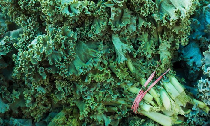 Kale is seen at  a Farmer's Market where locally grown produce is sold August 13, 2015 in Fairfax, Virginia. (Paul J. Richards/AFP/Getty Images)
