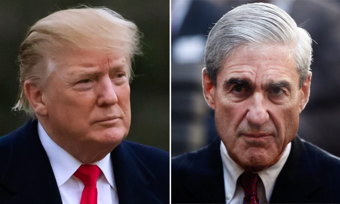Combination photo of President Donald Trump and former FBI Director Robert Mueller. (Alex Brandon and Charles Dharapak/AP)