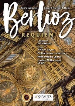 flyer for the Berlioz Requiem concert