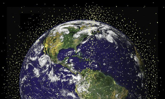 Orbital debris around the earth. (NASA.gov)