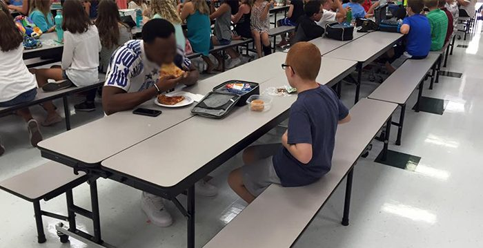 Mom Becomes a Lifelong Fan of Travis Rudolph After He Eats Lunch With Her Autistic Son