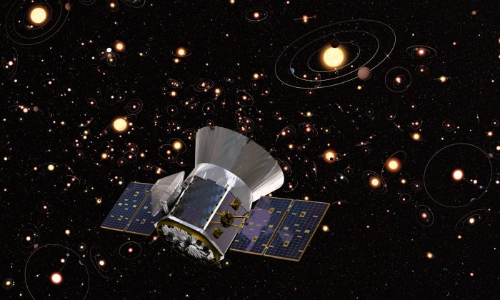 In January, three exoplanet discoveries were connected to the initial observations from TESS. Now, data collected by TESS has determined a new Saturn-size planet. (NASA Goddard Space Flight Center/Cornell University)