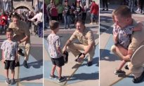 Little Boy's Trip to Disneyland Turns Magical When He Sees Military Dad Waiting for Him