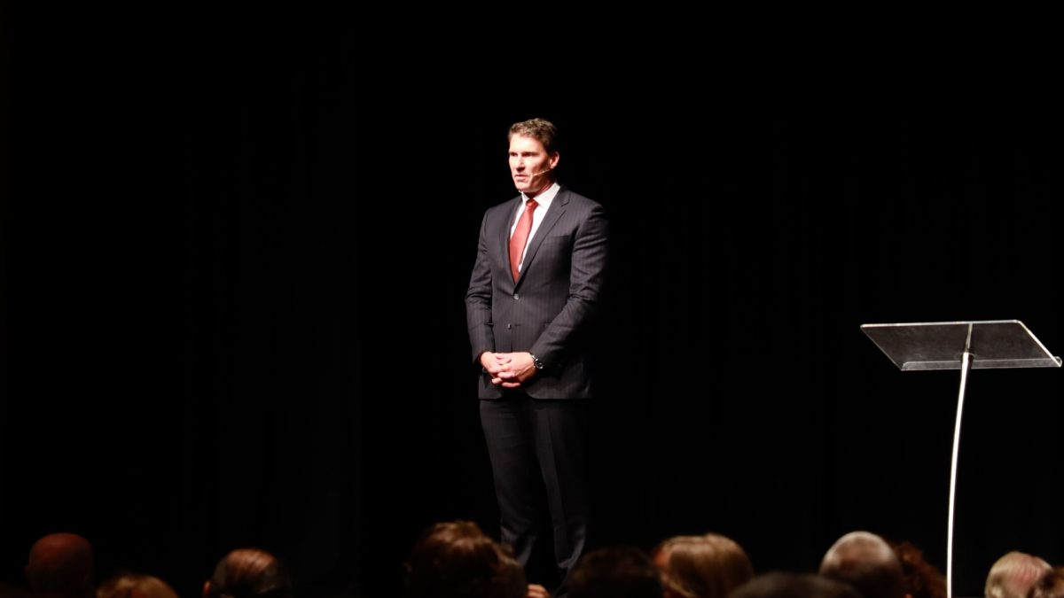 Cory Bernardi, leader of the Australian Conservatives, at the 2019 Victorian State Conference in Melbourne, Australia on March 30. (Grace Yu/Epoch Times)