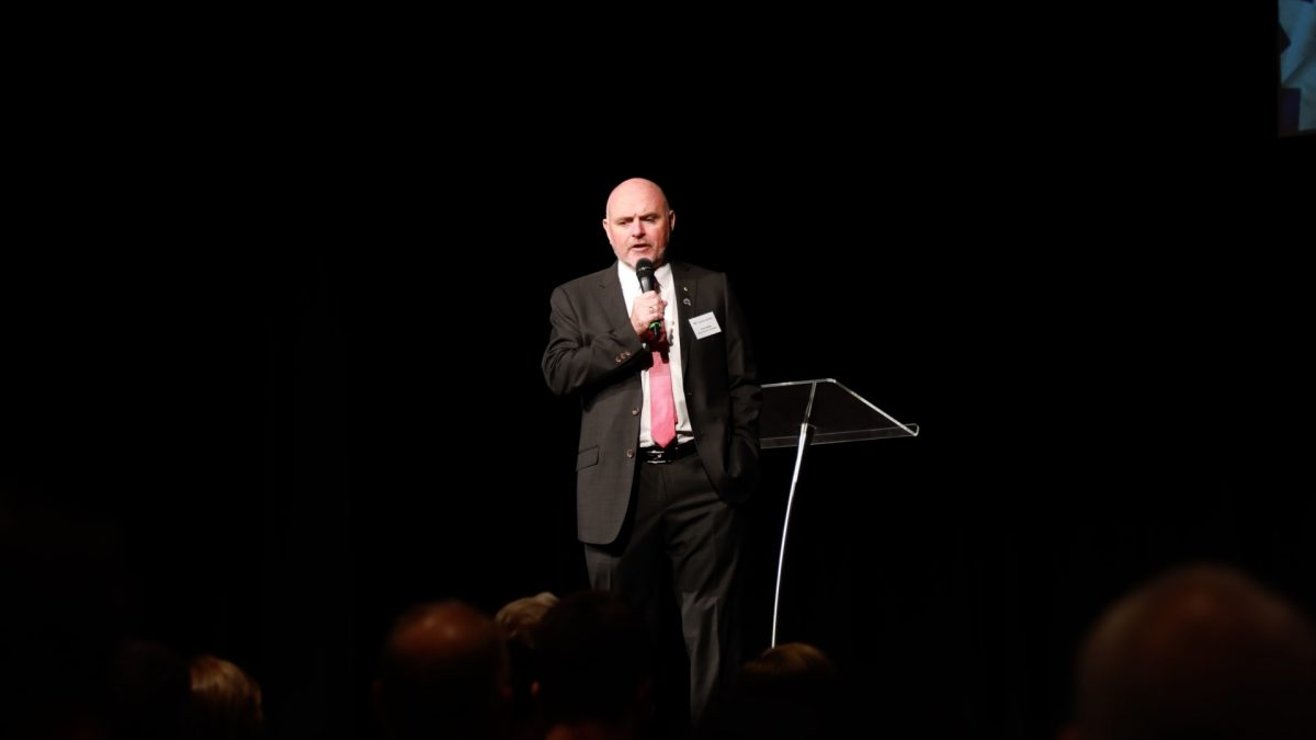Kevin Bailey AM, Victorian Senate candidate, speaks at the 2019 Victorian State Conference in Melbourne, Australia on March 30. (Grace Yu/Epoch Times)