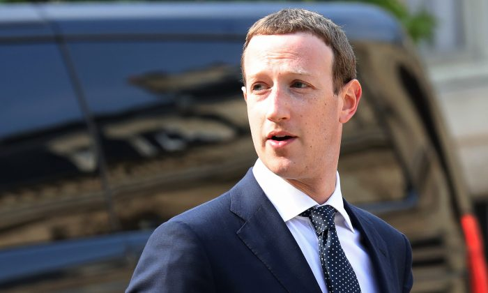 Facebook CEO Mark Zuckerberg in Paris on May 23, 2018. (Ludovic Marin/AFP/Getty Images)