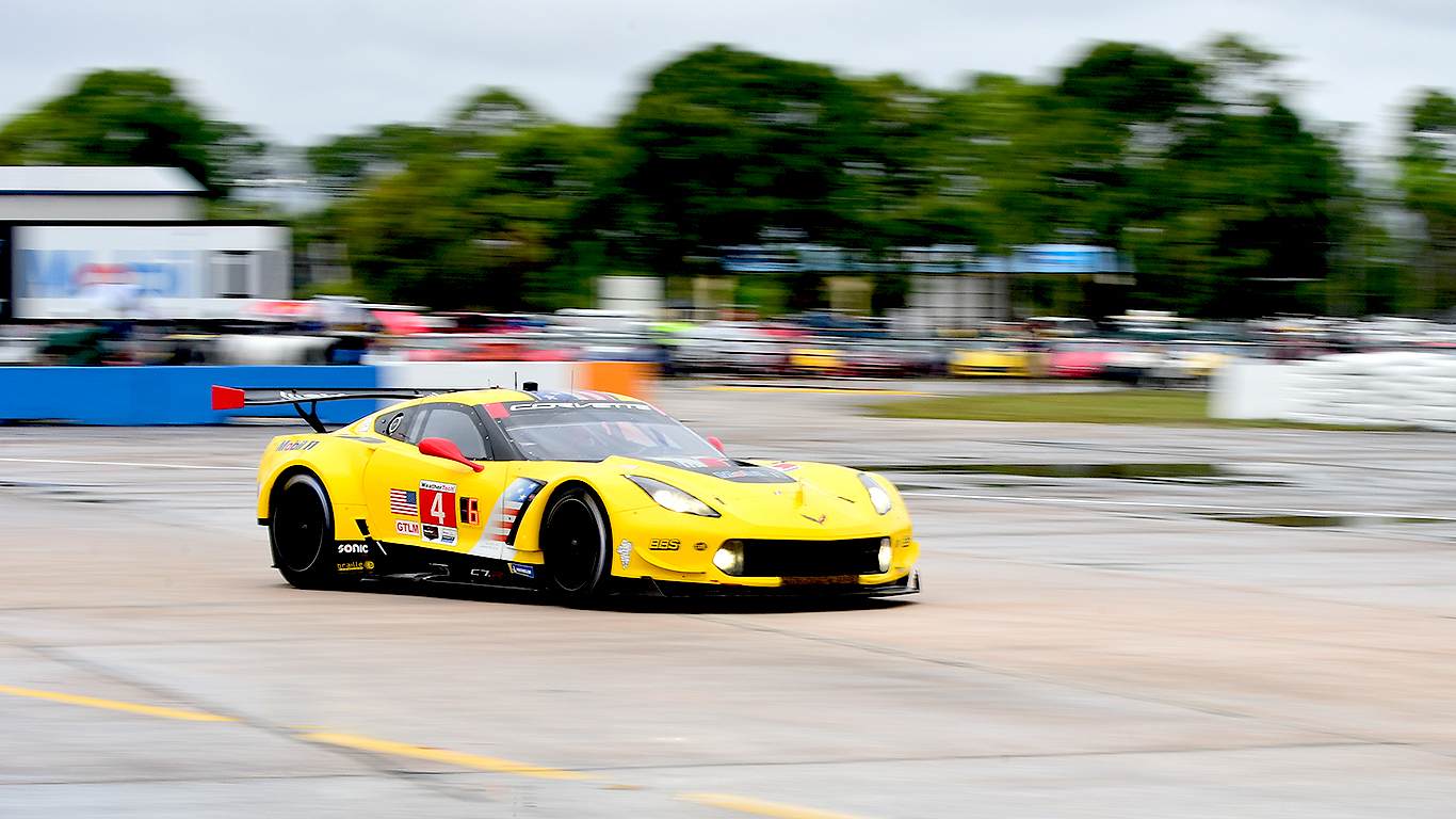 The #4 Corvette suffered a broken alternator belt and a broken halfshaft.