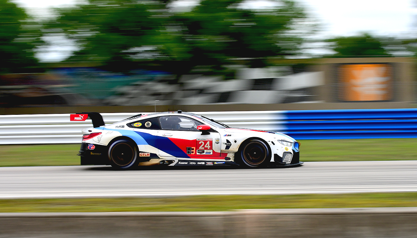 The #24 BMW M8 finished fourth in GTLM