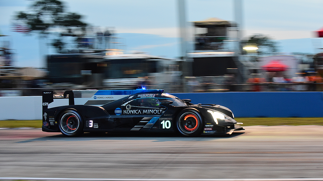The #10 Wayne Taylor Racing Cadillac took second at Sebring.