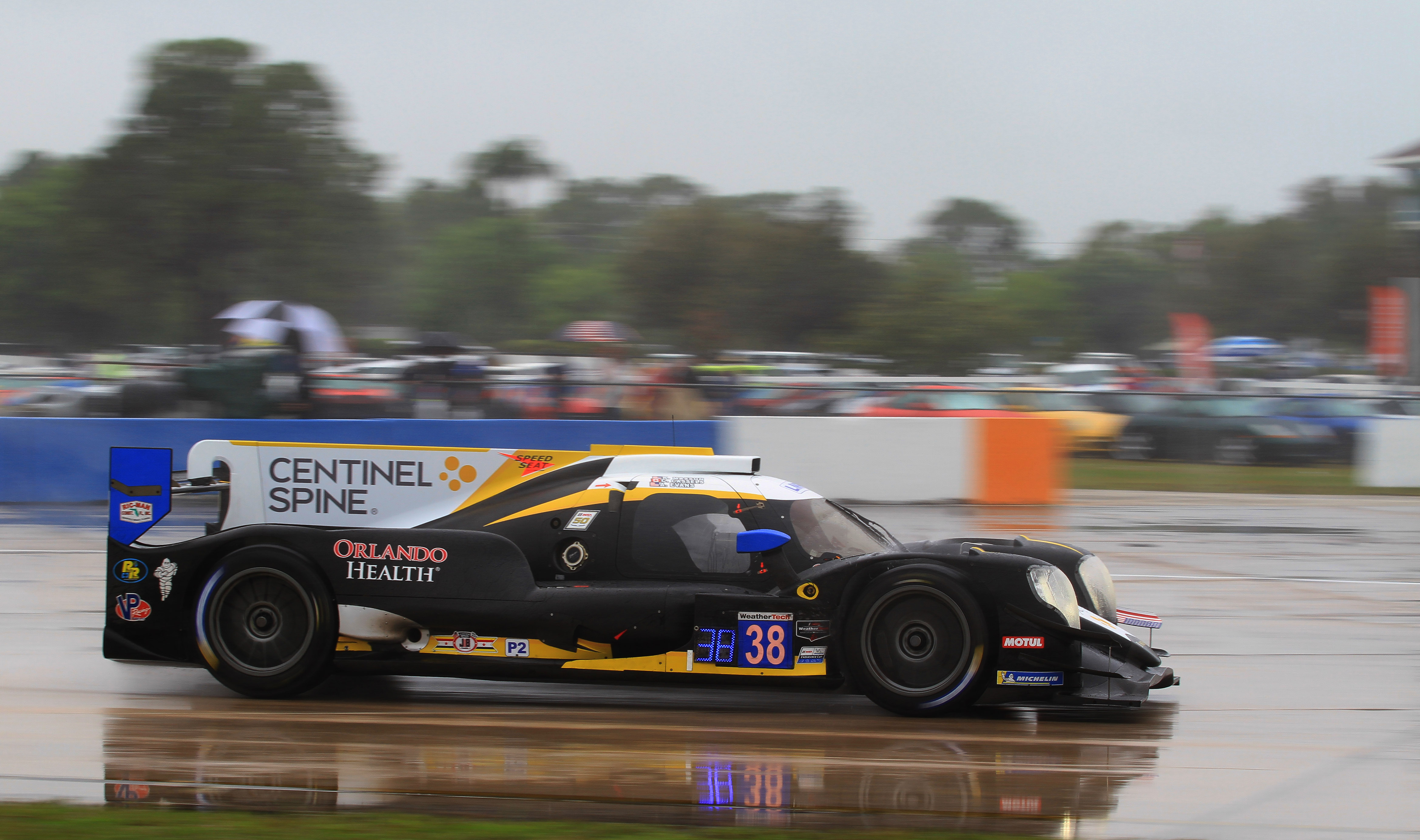 The #38 Performance Tech P2 Oreca won its class.