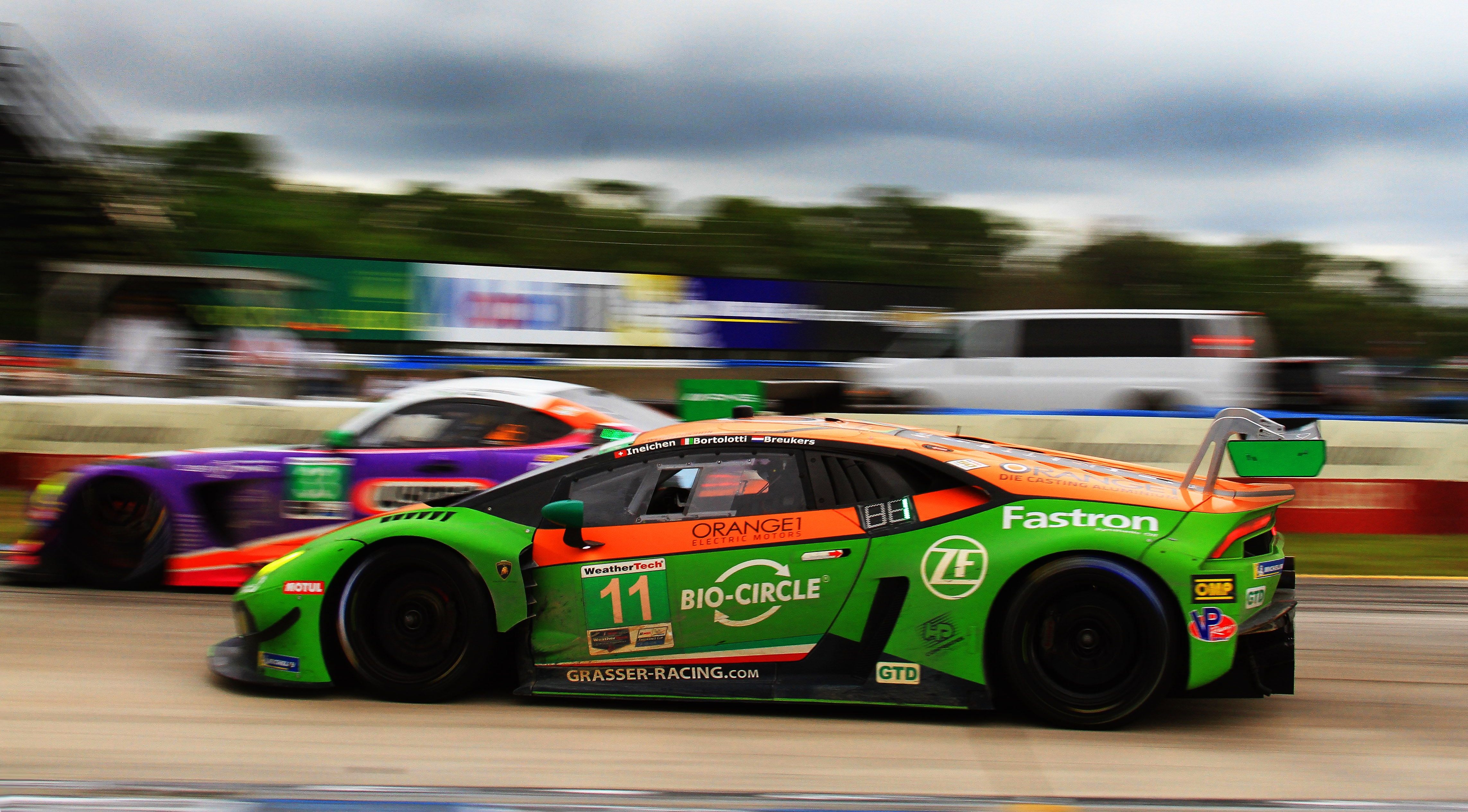 The #11 Grasser Racing Team Huracán GT3 topped the GTD class.