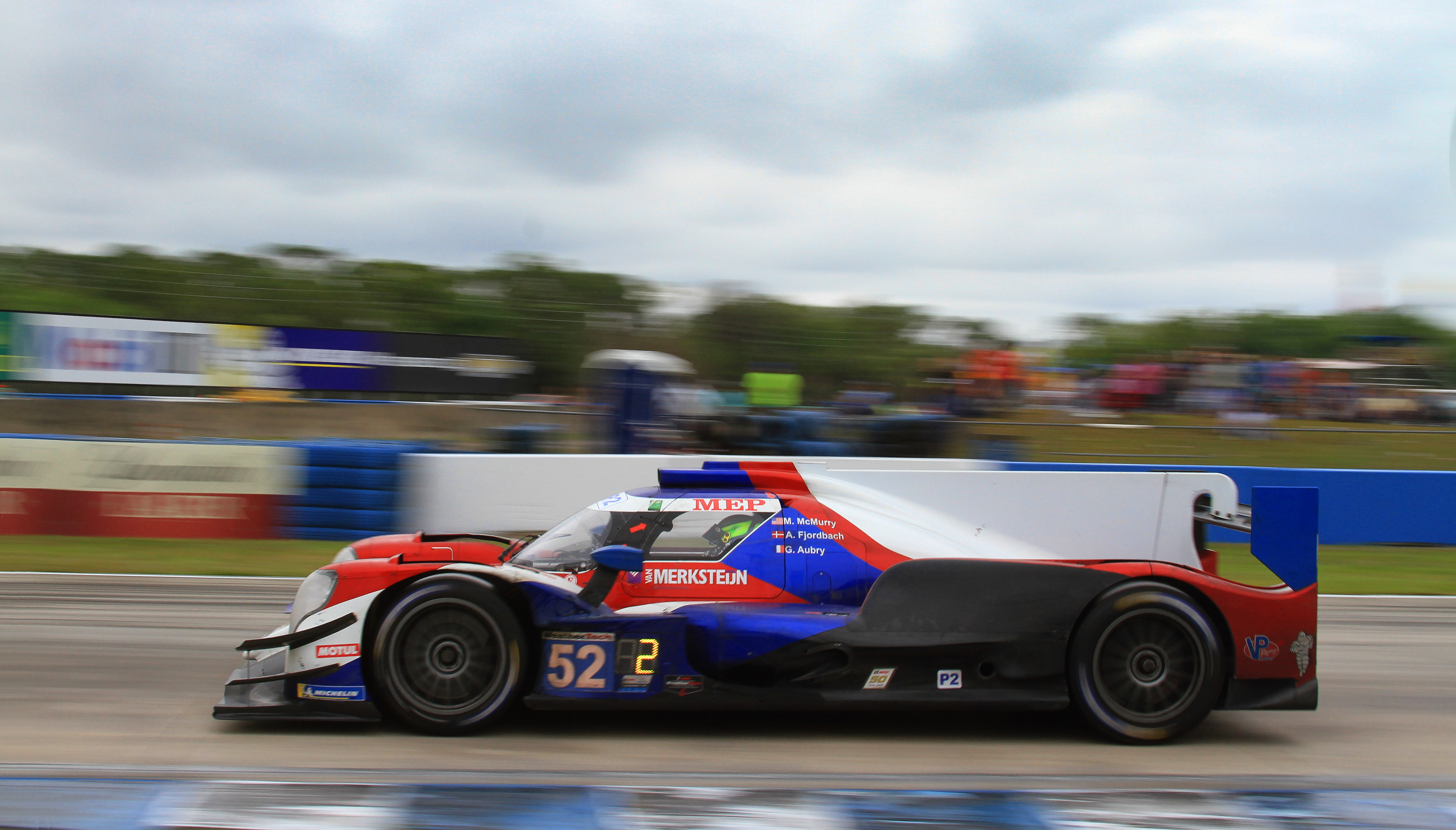 The #52 Pr1-Mathiesen P2 Oreca broke less than three hours into the race.