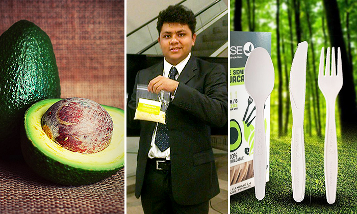 Mexican Genius Turns Avocado Pits Into 100% Biodegradable Plastic Straws, Forks, Spoons, Knives