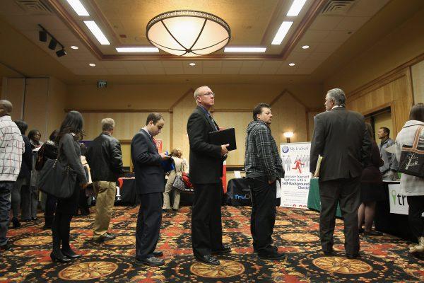 Job applicants at Denver Hires Job Fair