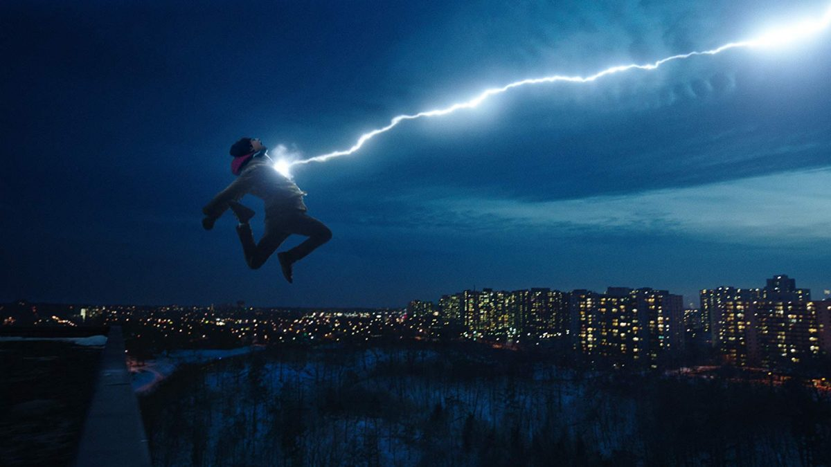 "Boy jump off building and says, ""Shazam!"""