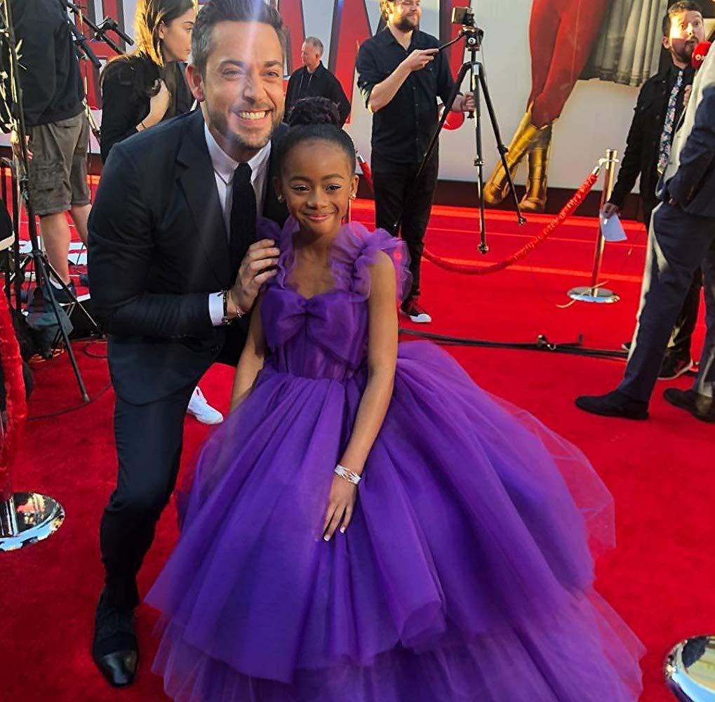 White man and black girl purple dress