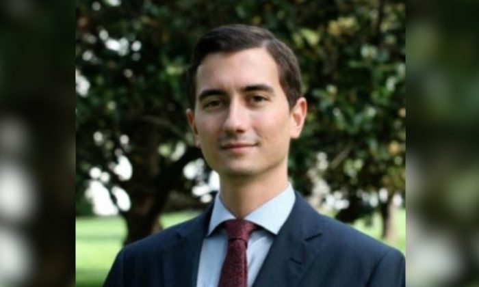 """Jackson Cosko, 27, who worked for Rep. Sheila Jackson Lee (D-Texas) at the time he was arrested in October 2018, pleaded guilty in April to a slew of charges related to """"doxxing"""" Republican Senators. (LinkedIn)"""