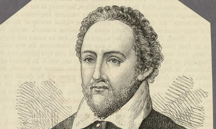 A portrait of Richard Burbage, the English actor and theater owner. The Welsh Portrait Collection at the National Library of Wales. (Public Domain)