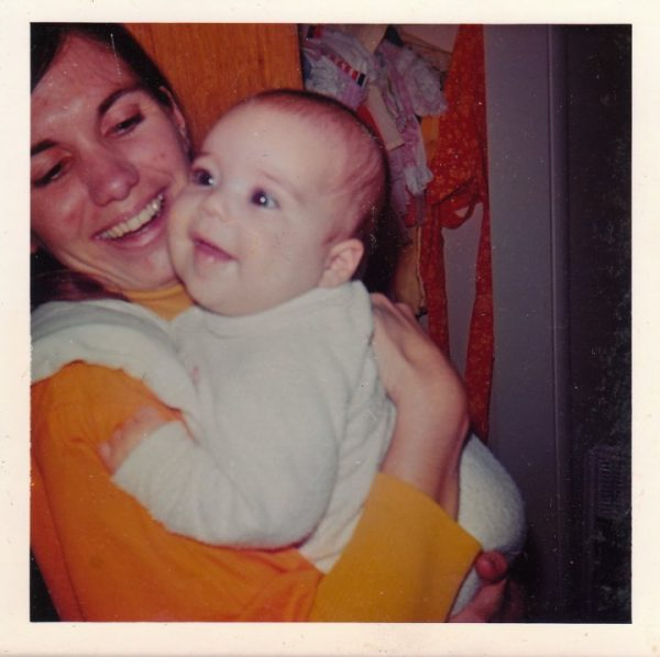 Kate Washington as baby with mother