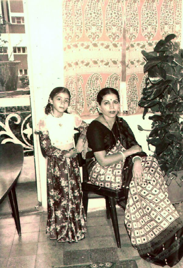 Nandita Godbole with mother