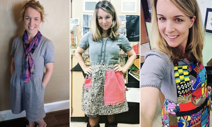 School Teacher Promotes Sustainable Fashion by Wearing the Same Dress for 100 Days