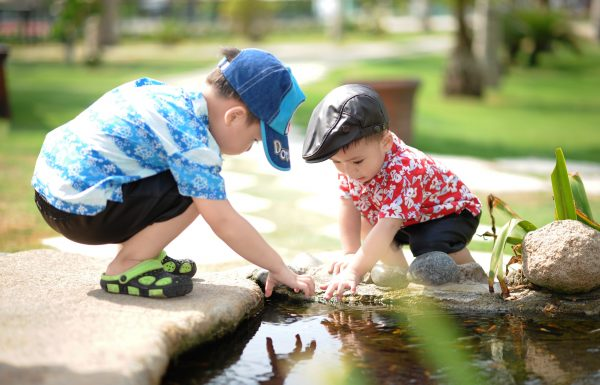 baby-boys-childhood-playing in pond