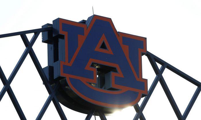 The Auburn University logo sits atop of Jordan-Hare Stadium. (Mike Zarrilli/Getty Images)