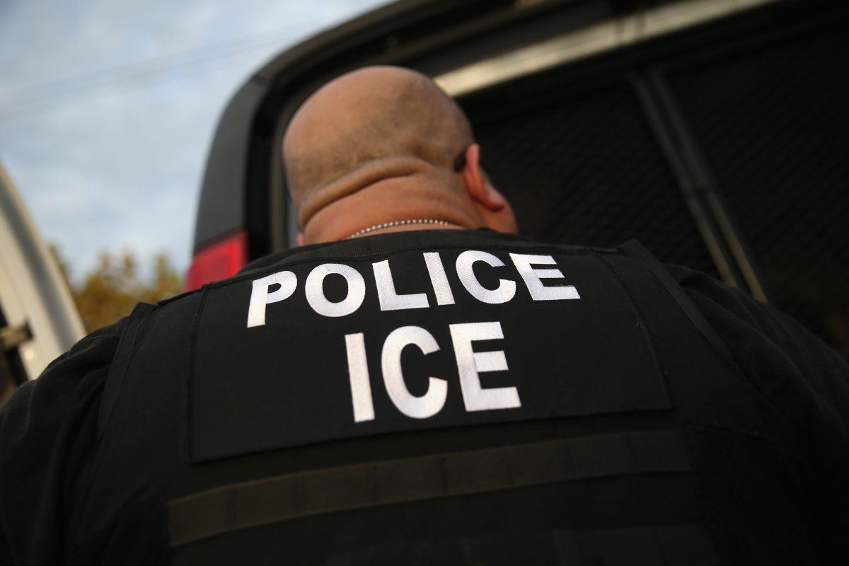 ICE agent arrests illegal alien
