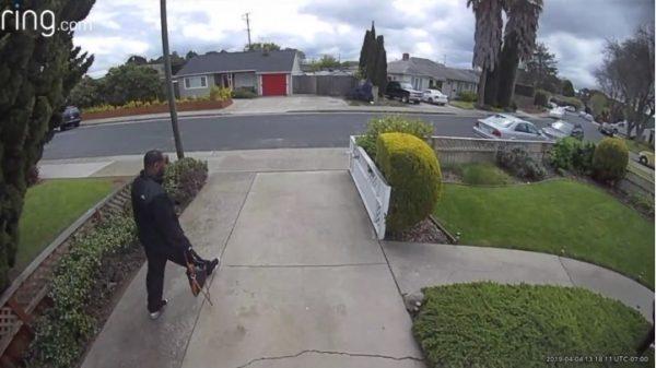 suspect outside home