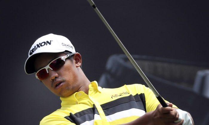 A file photo of Malaysian Professional Golfer Arie Irawan in Kuala Lumpur, Malaysia, on Feb. 10, 2017. (AP Photo/Daniel Chan, file)