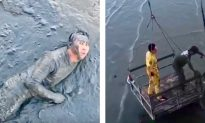 Jogger Falls Off a 16-ft Pier Into Thick Mud–Rescuers Have to Race Against Time as the Tide Rises