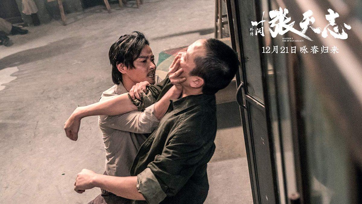 Two men fight on street