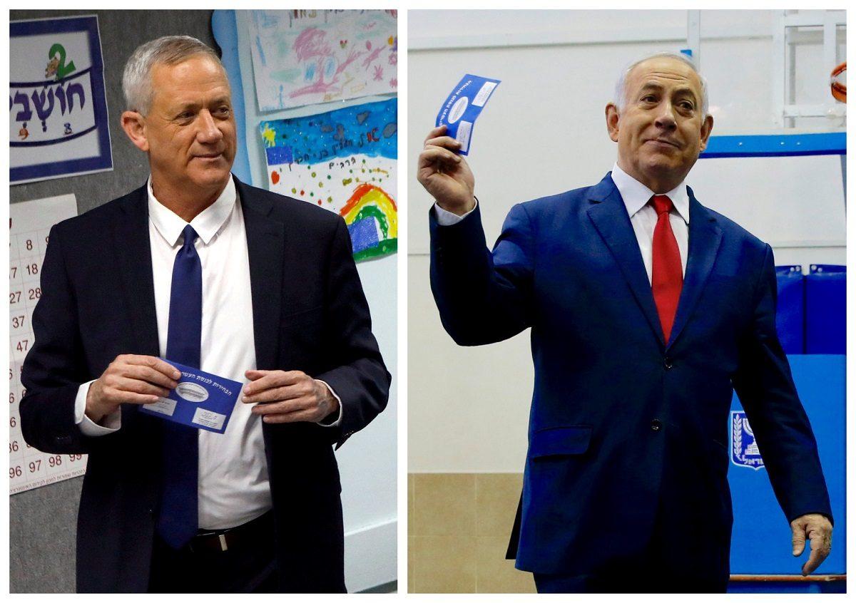 Benny Gantz and Benjamin Netanyahu