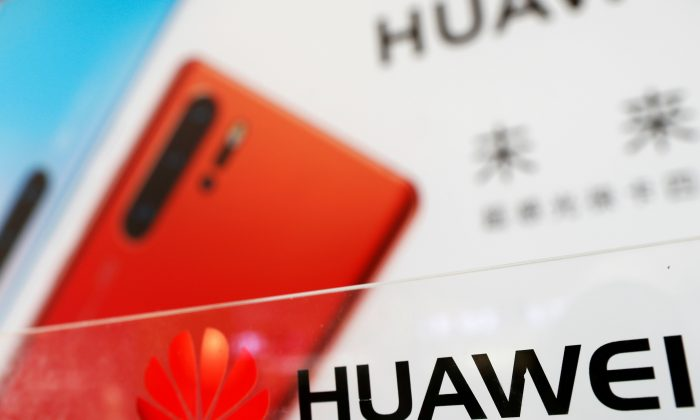 The logo of Huawei is seen at its showroom in Shenzhen, Guangdong Province, China on March 29, 2019. (Tyrone Siu/Reuters)