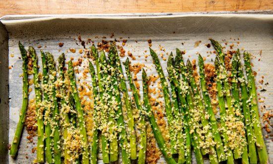A Crispy, Cheesy Upgrade for Roasted Asparagus