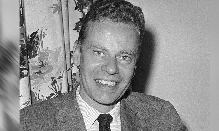 Charles Van Doren at New York's hotel Roosevelt, on Oct. 14, 1959. Van Doren, who admitted his television quiz show performances in the 1950s had been rigged, died on Tuesday, April 9, 2019, in Canaan, Conn. He was 93. (AP Photo, File)