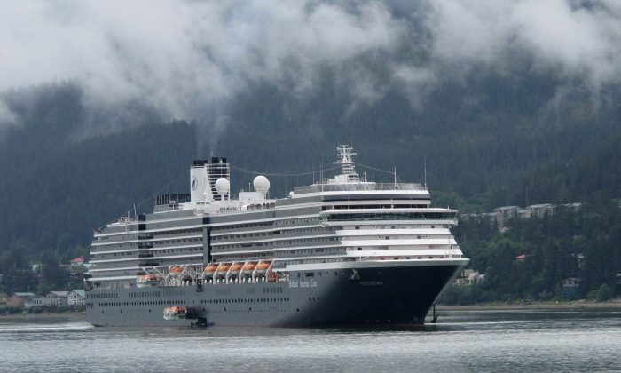 The Holland America Westerdam, is shown in Juneau, Alaska, on Aug. 29, 2011. (Becky Bohrer/AP Photo)