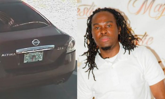 The authorities believe Ernst Cherizard, the 38-year-old suspect, fled in a 2011 Nissan Altima after the incident. (Haines City Police Department)