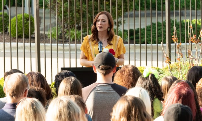"""Actress Ashley Bratcher plays former Planned Parenthood clinic director Abby Johnson who becomes an anti-abortion activist in the 2019 drama movie, """"Unplanned."""" (Courtesy of Unplanned)"""