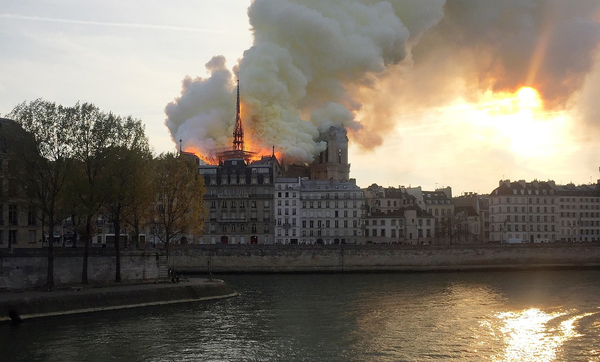 Video Shows Crowd Singing 'Ave Maria' as Notre Dame Fire Rages