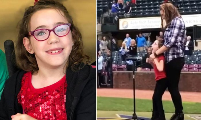 7-Year-Old With Cerebral Palsy Sings National Anthem at Baseball Game: 'I Wasn't Nervous'
