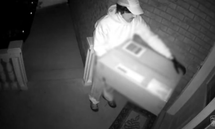 The would-be hitman, captured on surveillance camera. (Peel Regional Police)