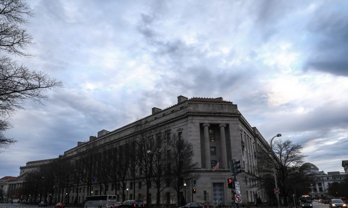 The Department of Justice in Washington on Jan. 7, 2019. (Samira Bouaou/The Epoch Times)
