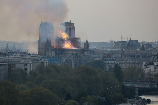 people claim to see religious figures in flames