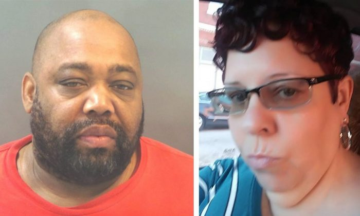 Samuel Scott (L), accused of murdering Marcia Johnson (R). (St. Louis Police Department/Facebook)