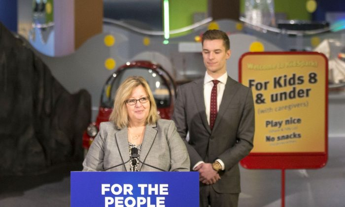 Ontario Education Minister Lisa Thompson speaks about upcoming education changes at a press conference at the Ontario Science Centre in Toronto on March 15, 2019. (The Canadian Press/Chris Young)